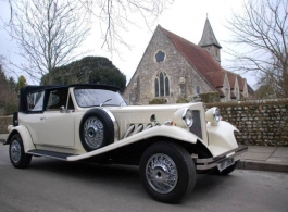 Convertible Beauford wedding car hire in Southampton